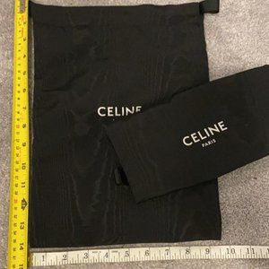 Black Celine Shoe dust Bag
